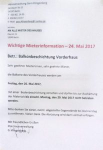 Schreiben HV Klingenberg 24.05.17